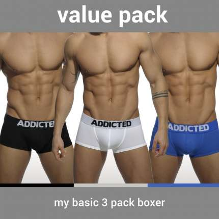 Pack 3 Boxers Addicted My Basic,500088