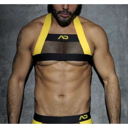 Harness Addicted Fetish Mesh Amarelo, Harnesses, Addicted , welcomelover