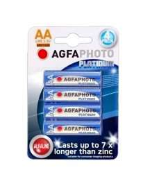 Pack 4 Alkaline Batteries AGFA Photo Platinum LR6 AA 1.5 V MN1500
