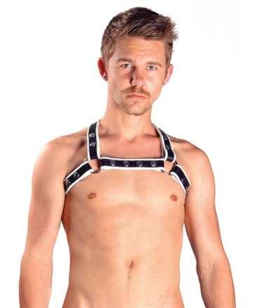 Harness X-Back Premium Branco 601742 Mister B Harnesses