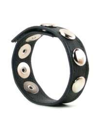 Cockring, Synthetic Leather with Rivets, 22.5 cm 130040