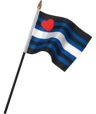 Bandeira Orgulho Couro 10 x 15 cm,833510