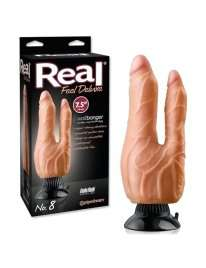 Dildo Double Realistic Real Feel Deluxe N8 White 12 cm 216004