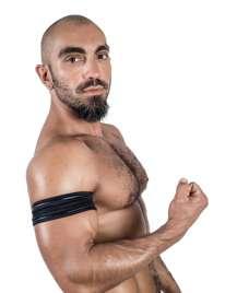 Band Neoprene Mister B Biceps Black SM 132008