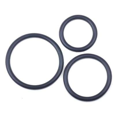 3 x Cockrings Silicone Preto,130059