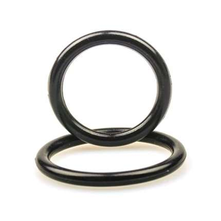 2 x Cockrings Silicone Preto,130060