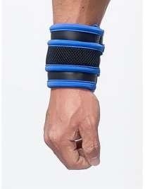 La cartera de reloj de Pulsera de Mister B Neopreno de color Negro y Azul,132011