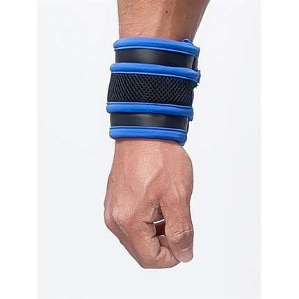 Wrist wallet, Mister B Neoprene Black and Blue 132011