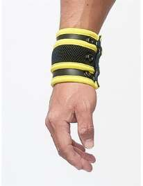 Wrist wallet, Mister B Neoprene Black and Yellow 132012