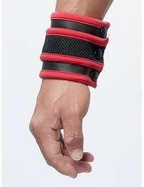 La cartera de reloj de Pulsera de Mister B Neopreno de color Negro y Rojo,132013