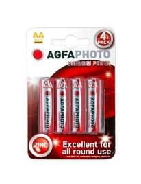 Pack 4 Pilhas Zinco AGFA Photo Everyday Power R6 AA 1,5V,MIGNON