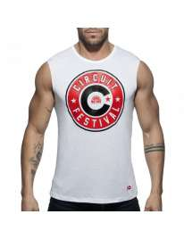 Manga Cava Addicted Circuit Boy 2018 Tank Top Branco, Manga Cava e T-Shirts, Addicted , welcomelover, sex shop, sexshop,Addicted