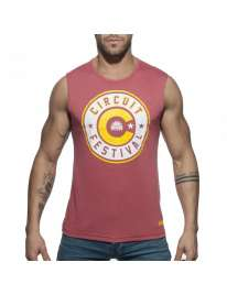 Sleeve Armhole Addicted Circuit Boy 2018 Tank Top Dark Red 500188