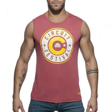 sex shop, Manga Cava Addicted Circuit Boy 2018 Tank Top Vermelho Escuro, Manga Cava e T-Shirts, Addicted, sex-shop, sex-shop-...