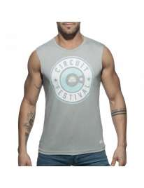 Sleeve Armhole Addicted Circuit Boy 2018 Tank Top Gray 500196