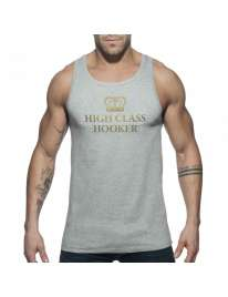 Sleeve Armhole Addicted High Class Hooker Tank Top Gray 500163