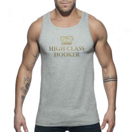 Manga Cava Addicted High Class Hooker Tank Top Cinzento,500163