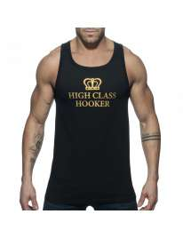 Manga Cava Addicted High Class Hooker Tank Top Preto, Manga Cava e T-Shirts, Addicted, mister cock