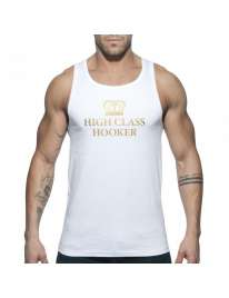 Sleeve Armhole Addicted High Class Hooker Tank Top White 500167