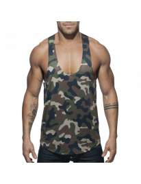 Sleeve Armhole Addicted Station Wagon Camo Tank Top Camouflage Brown 500170