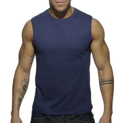 Manga Cava Addicted Basic Tank Top Azul Marinho,500174