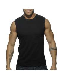 Sleeve Armhole Addicted Basic Tank Top Black 500175