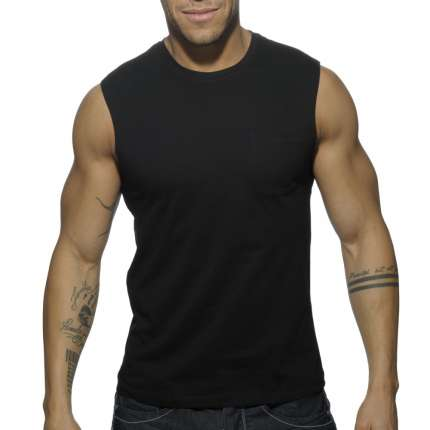 Manga Cava Addicted Basic Tank Top Preto,500175