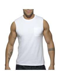 Sleeve Armhole Addicted Basic Tank Top White 500176