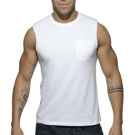 Manga Cava Addicted Basic Tank Top Branco,500176