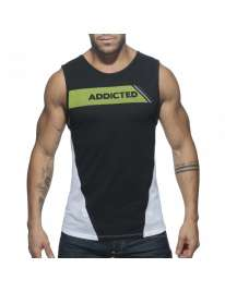 Manga Cava Addicted Tank Top Preto, Manga Cava e T-Shirts, Addicted , welcomelover, sex shop, sexshop,Addicted