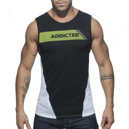 Manga Cava Addicted Tank Top Preto,500177