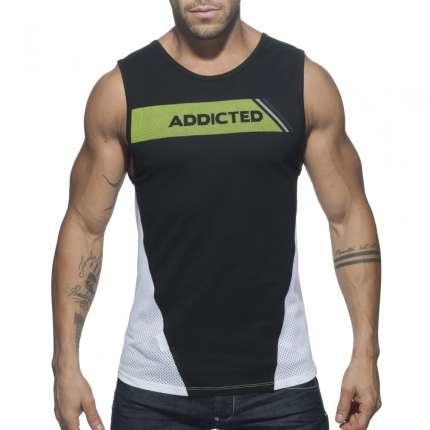 Sleeve Armhole Addicted Tank Top Black 500177