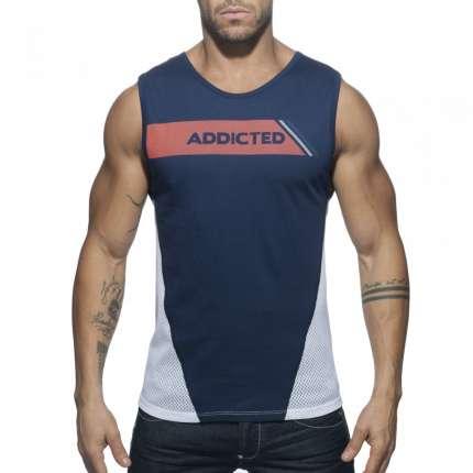Manga Cava Addicted Tank Top Azul Marinho,500178