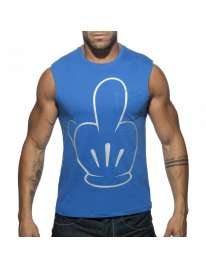 Manga Cava Addicted Fuck Tank Top Azul,500180