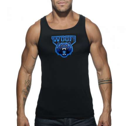 sex shop, Manga Cava Addicted Woof Tank Top Preto, Manga Cava e T-Shirts, Addicted, sex-shop, sex-shop-online, sexshop
