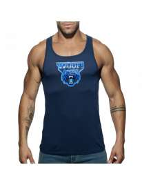 Manga Cava Addicted Woof Tank Top Azul Marinho, Manga Cava e T-Shirts, Addicted , welcomelover, sex shop, sexshop,Addicted