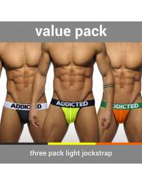 Pack 3 x Jockstrap Addicted Light, Jockstrap, Addicted , welcomelover, sex shop, sexshop,Addicted