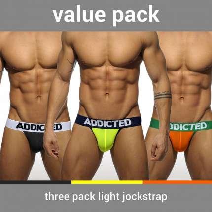Pack 3 x Jockstrap Addicted Light,500206