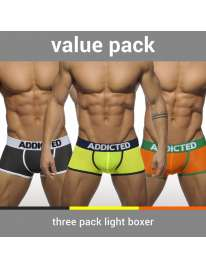 Pack 3 x Boxer shorts Addicted Light, Boxer, Addicted, mister cock, sexshop, sexhop gay, sexshop online