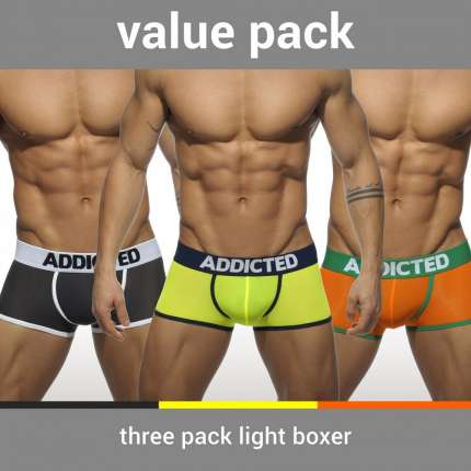 Pack 3 x Boxers Addicted Light,500207